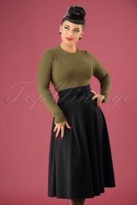 40s Victoria Swing Skirt in Black