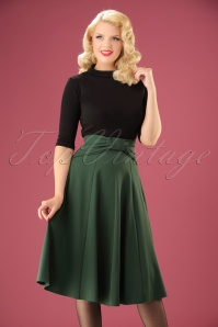 Miss Candyfloss Green Bow Swing Skirt 122 40 22137 20170816 1W