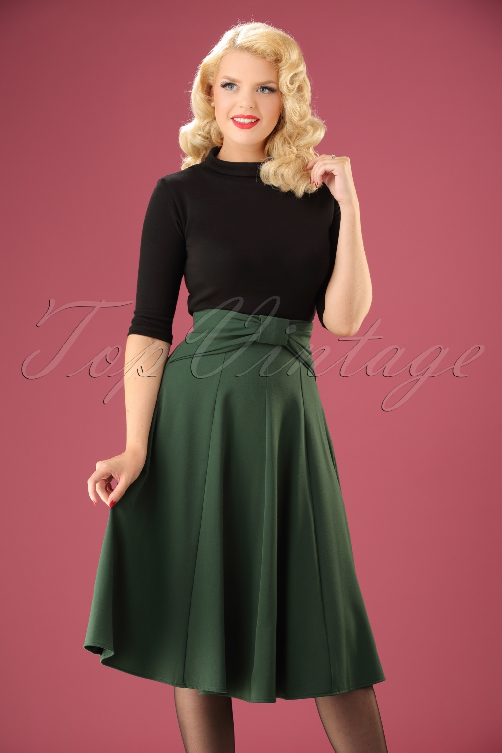 40 Top Summer 2013 Fashion Trends: 40s Victoria Swing Skirt In Green