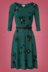 Collectif Clothing Blake Green Leaved Dress 102 49 21589 20170801 0008W