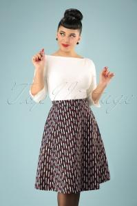 Mademoiselle yeye Josephine Swing Lipstick Skirt 122 14 21593 20170802 1w
