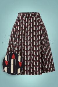 Mademoiselle yeye Josephine Swing Lipstick Skirt 122 14 21593 20170802 0001W1