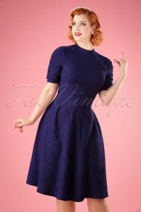 Vintage Chic Purple Asian Floral Dress 102 30 22004 20170907 6W