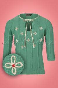 Vixen Fearne Green Floral Top 113 40 22052 20170918 0001W1