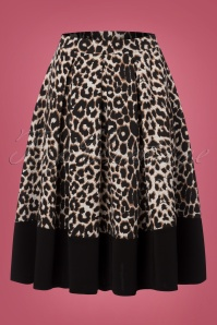 Vintage Chic Leopard Print Marcella Fabric Swing Skirt 122 58 22591 20170918 0002w