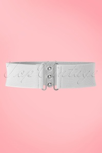 Collectif Nessa Cinch Belt in White 230 50 21633 20170613 0008W