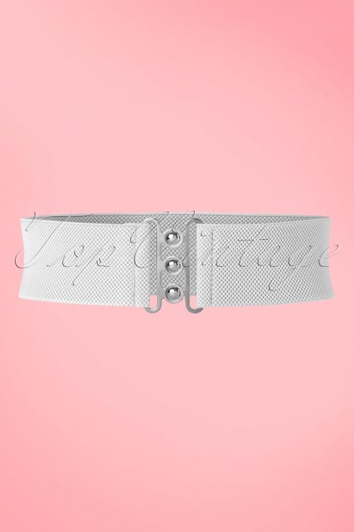 Collectif Nessa Cinch Belt in White 230 50 21633 20170613 0008W
