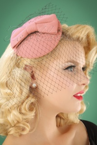 Banned Retro 50s Candice Hat in Old Pink