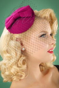 Banned Retro 50s Candice Hat in Magenta