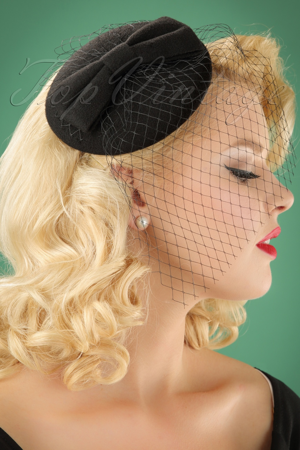 1950s Women's Hat Styles & History 50s Candice Hat in Black £15.12 AT vintagedancer.com