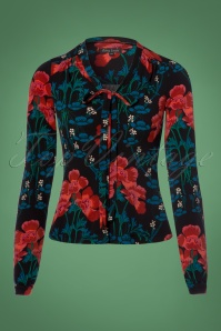 King Louie Bow Floral Blouse 112 14 21391 20170920 0002w