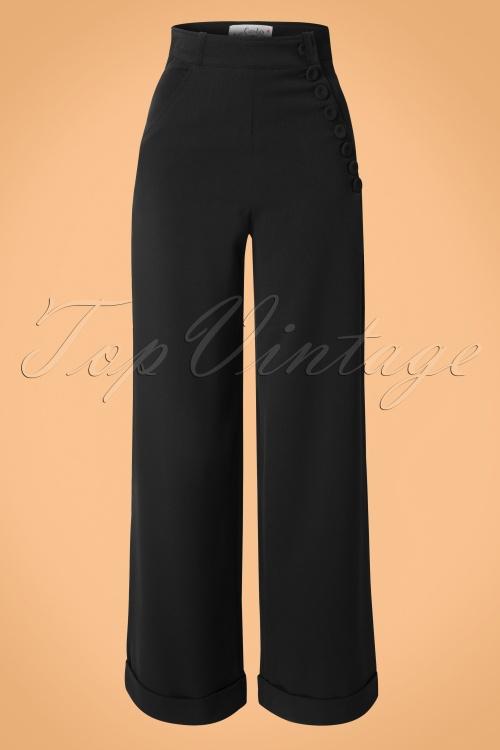 Miss Candyfloss 40s Nicolette Black Pants 131 31 14857 20150226 0009w