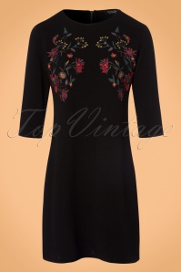 Vintage Chic 60s Floral Black Dress 106 10 23175 20170920 0004W