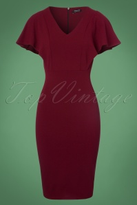 Vintage Chic Wine Red Pencil Dress 100 20 22592 20170920 0001W