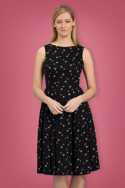 50s penny manhattan cocktails dress in black for Cocktail 102