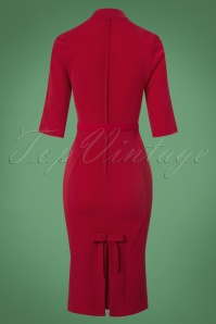 Miss Candyfloss Red Pencil Dress 100 20 22129 20170725 0008w