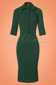 Miss Candyfloss Green Pencil Dress 100 40 22128 20170725 0002w