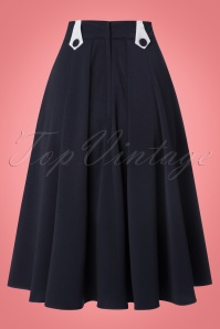 Miss Candyfloss Plain Sailor Blue Swing Skirt 122 31 22209 20170922 0008w