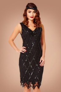 GatsbyLady Liz Fringe Dress in Black 100 10 22648 20170925 0017