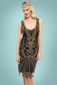 GatsbyLady Francesca Dress in Gold 100 14 22647 20170925 0012