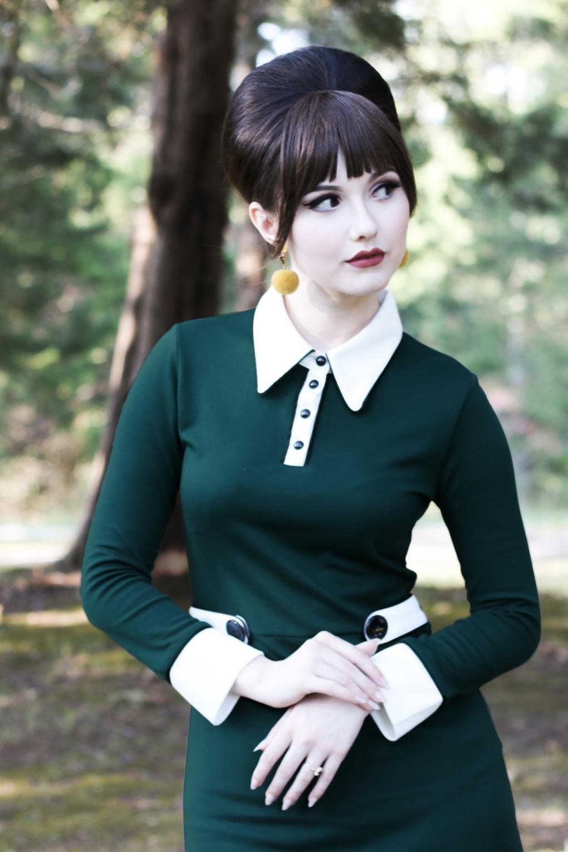 60s Shirts, Tops, Blouses | 70s Shirts, Blouses 60s Nathalie Dress in Teal £93.28 AT vintagedancer.com