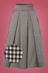 Banned Izzy Midi Houndstooth Skirt 122 14 22374 20170828 0004W1