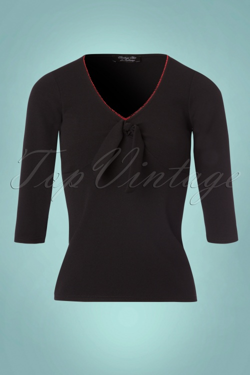 Vintage Chic Black Bow Top 113 10 22582 20170922 0002W