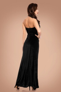 Dolly and Dotty Black Maxi Velvet Dress 108 10 22982 20170926 0006