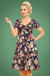 Dolly and Dotty Blue Floral Swing Dress 102 39 22962 20170926 0010