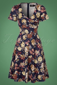 Dolly and Dotty Blue Floral Swing Dress 102 39 22962 20170926 0009W