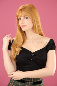 Collectif Clothing Dolores top Carmen black 42 2446 20130529 0001 02w