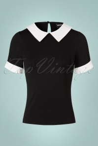 Banned Maureen Top in Black and White 113 10 17801 20160811 0002W