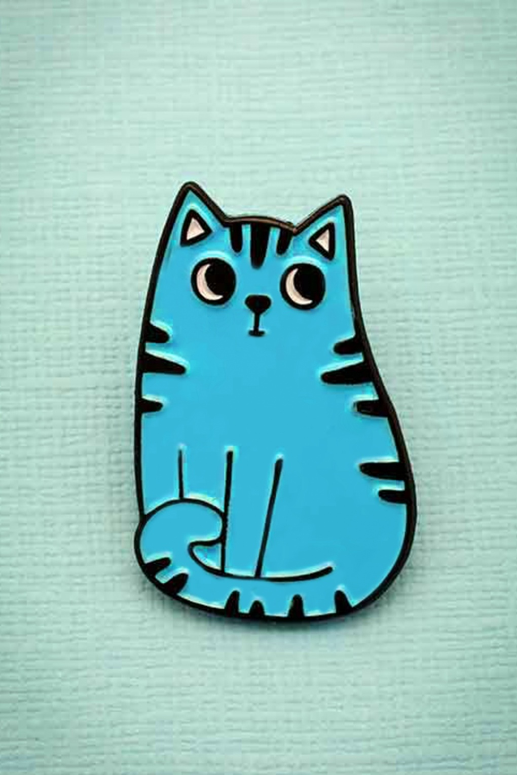 1960s Costume Jewelry – 1960s Style Jewelry 60s My Blue Cat Enamel Pin £8.05 AT vintagedancer.com