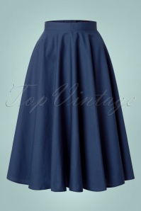 Bunny Navy Blue Swing Skirt 122 31 12050 20140601 001w