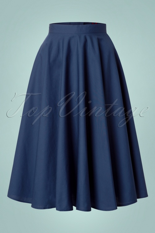 0caf8605030e Bunny Navy Blue Swing Skirt 122 31 12050 20140601 001w