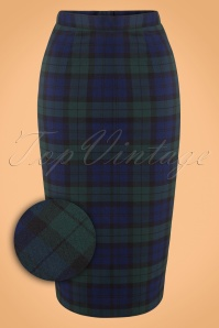 Bunny Jodie Dublin Tart Check Blue Green Pencil Skirt 120 39 16740 20150831 0012WV