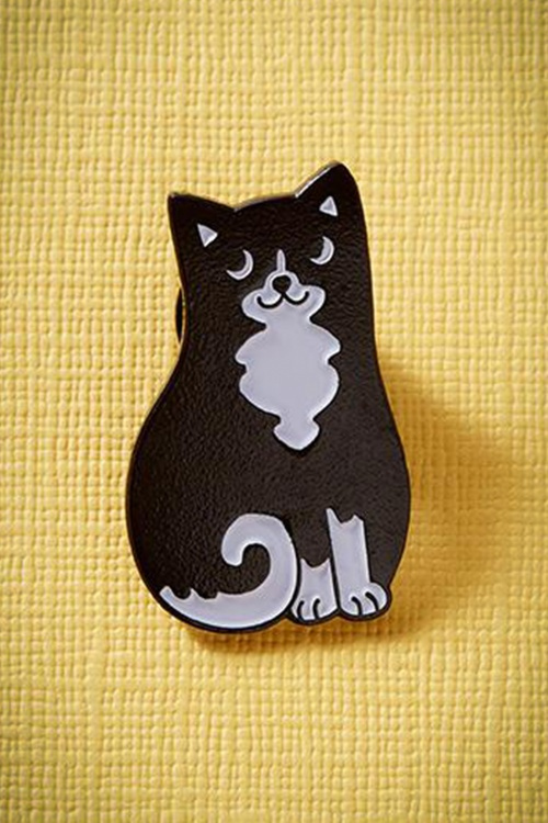 PunkyPins black cat pin 340 10 23353a
