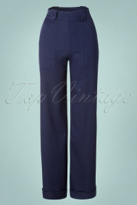 Dancing Days by Banned Dark Denim Hattie Blue Trousers 131 30 17851 20160308 0004W