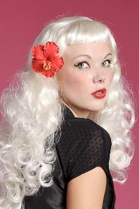 Ema Hibiscus hairflower red hairclip