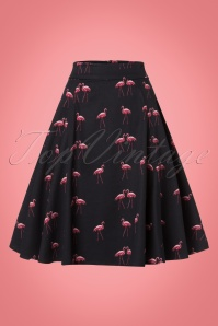 Collectif Clothing Tammy Winter Flamingo Skirt 21883 20170606 0007w