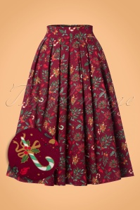 Banned Autumn Leaf Christmas Candy Cane Skirt 122 27 22403 20170828 0002wv