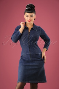 Collectif Clothing Paula A line Denim Dress 106 30 21583 20170801 01w