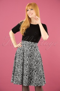 60s Everybody Dance Skirt in Zebra Zoo