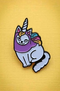 60s Caticorn Enamel Pin