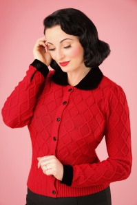 Collectif Clothing Imogen Cardigan in Red 21783 20170609 0010