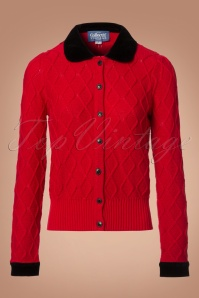 Collectif Clothing Imogen Cardigan in Red 21783 20170609 0002w
