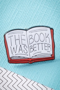 60s The Book Was Better Enamel Pin