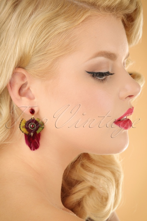 Glamfemme Red gold earrings 333 20 22993W