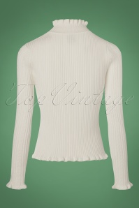 Yumi Frill High Neck Top in Ivory 113 50 21913 20170928 0010w