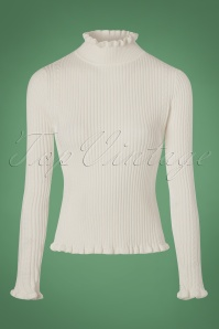 Yumi Frill High Neck Top in Ivory 113 50 21913 20170928 0004w